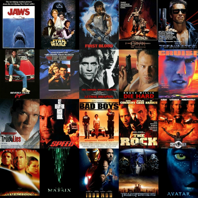 ActionsMoviePosterCollage