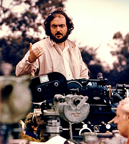 Kubrick on the set of Barry Lyndon.