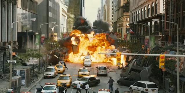 avengers city explode