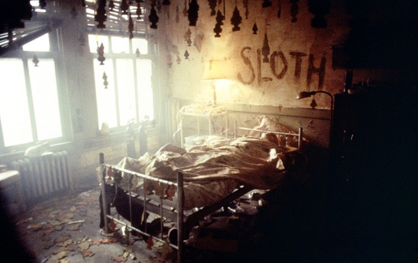 One of the crime scenes from Se7en.